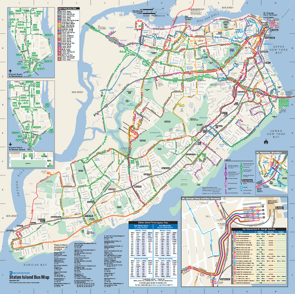 Staten Island Bus Map Staten Island NY Mappery - Brooklyn bus map