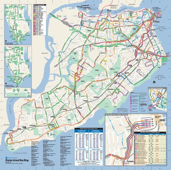 Staten Island Bus Map Staten Island NY mappery