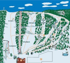 Station plein Air St-Pacome Ski Trail Map