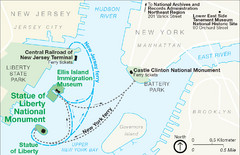 Statue of Liberty National Monument Map