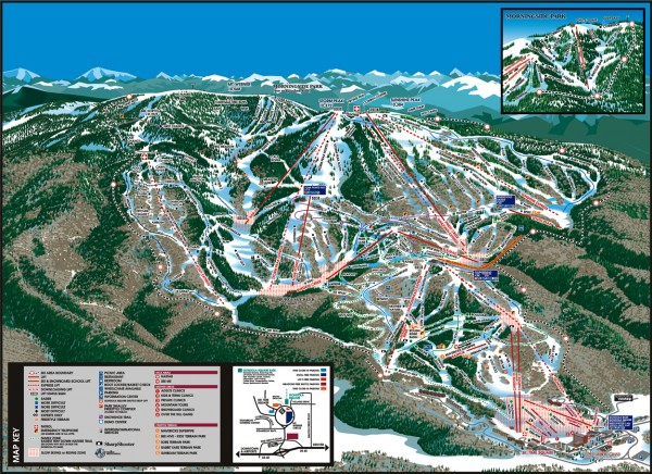 Steamboat Ski Area Ski trail map