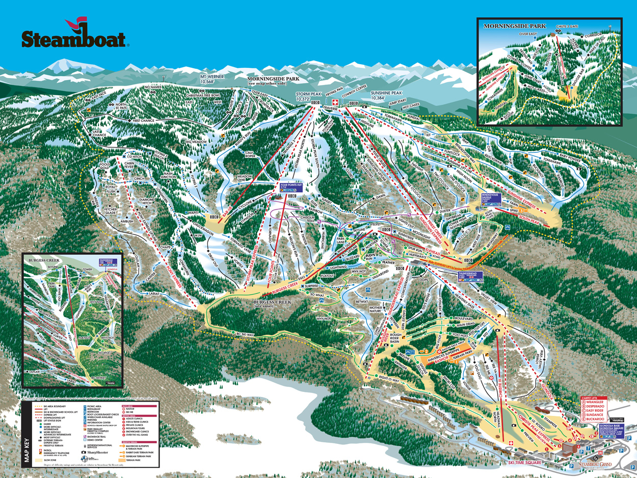 Pin Ski Resort Map Provided By Sunshine Village On Pinterest