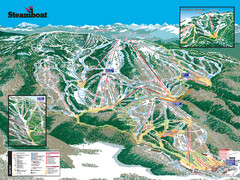 Steamboat Ski Resort Ski Trail Map