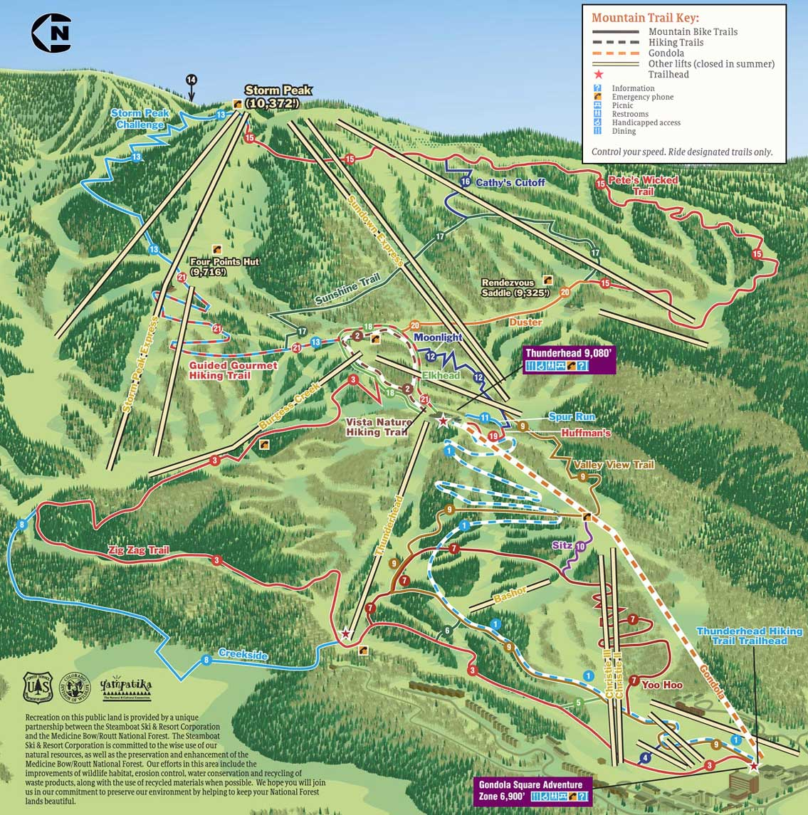 . steamboat springs bike trail map  steamboat co • mappery