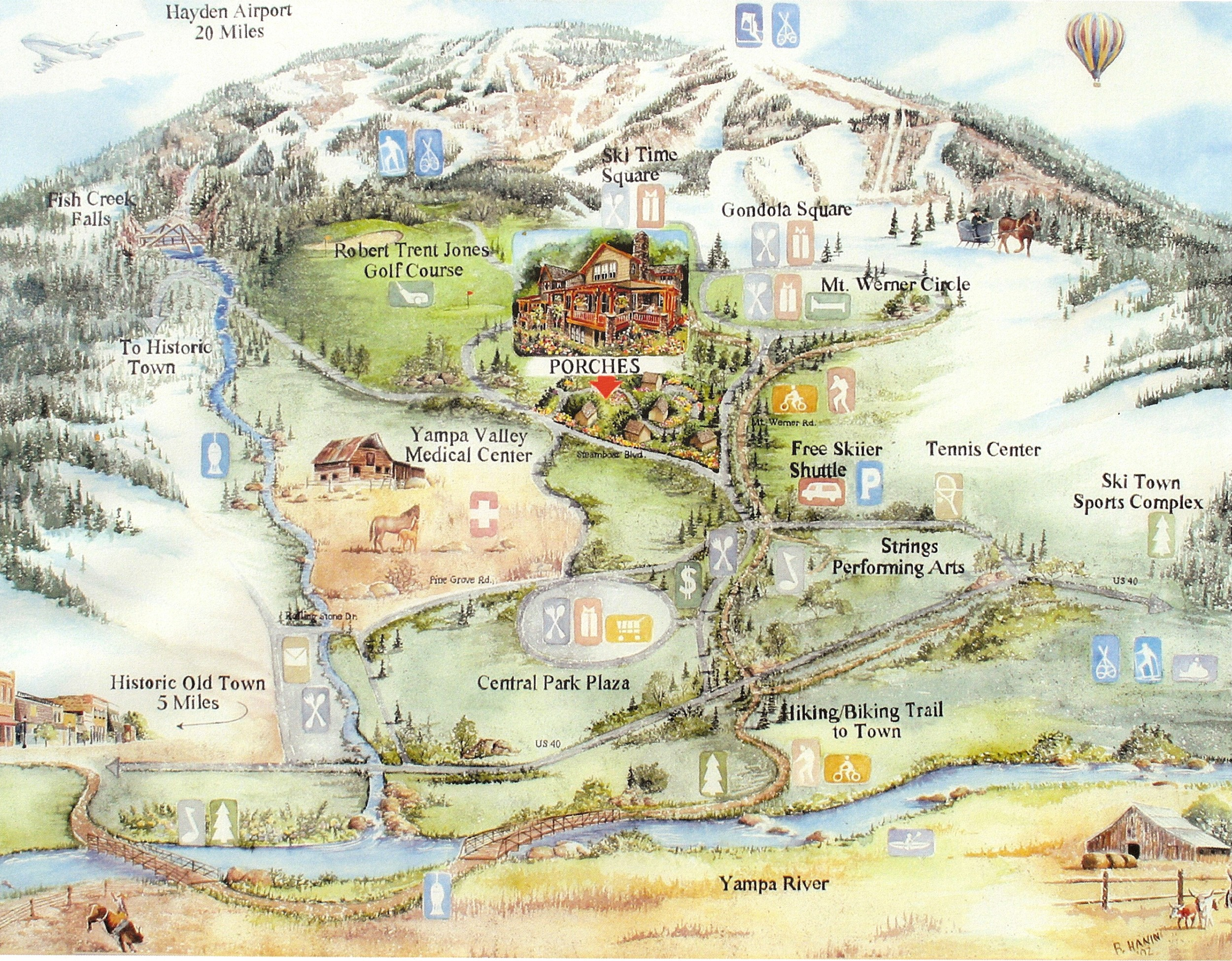 Steamboat Springs Colorado Area Map