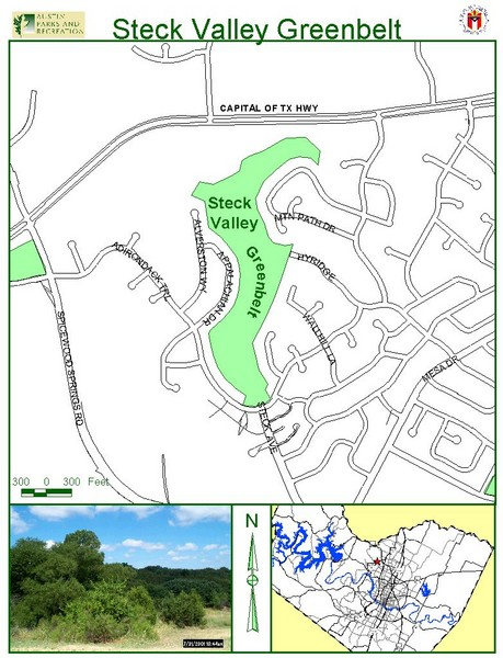 Steck Valley Greenbelt Map