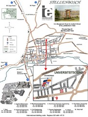 Stellenbosch University and Town Map