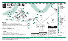 Stephen F. Austin, Texas State Park Facility Map