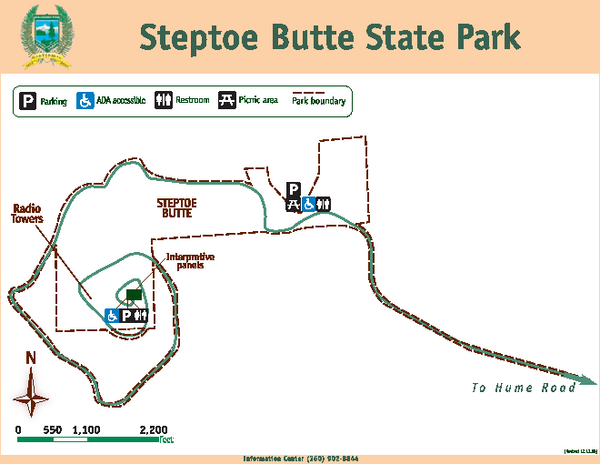 Steptoe Butt State Park Map