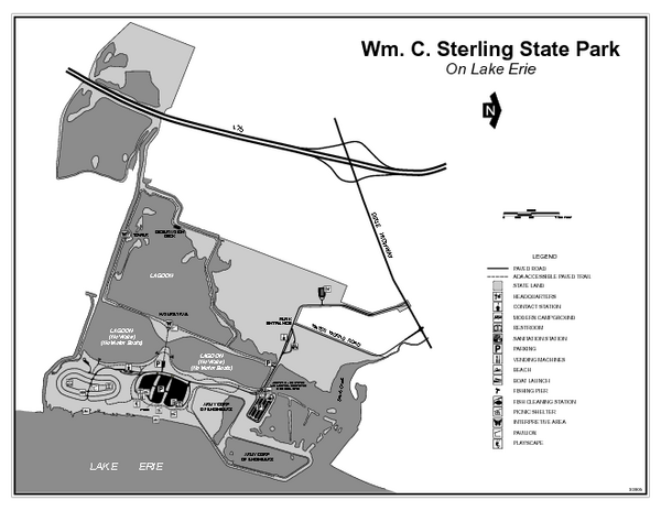 Sterling State Park Michigan Site Map Sterling State Park Michigan