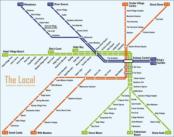 Sweden Subway Map