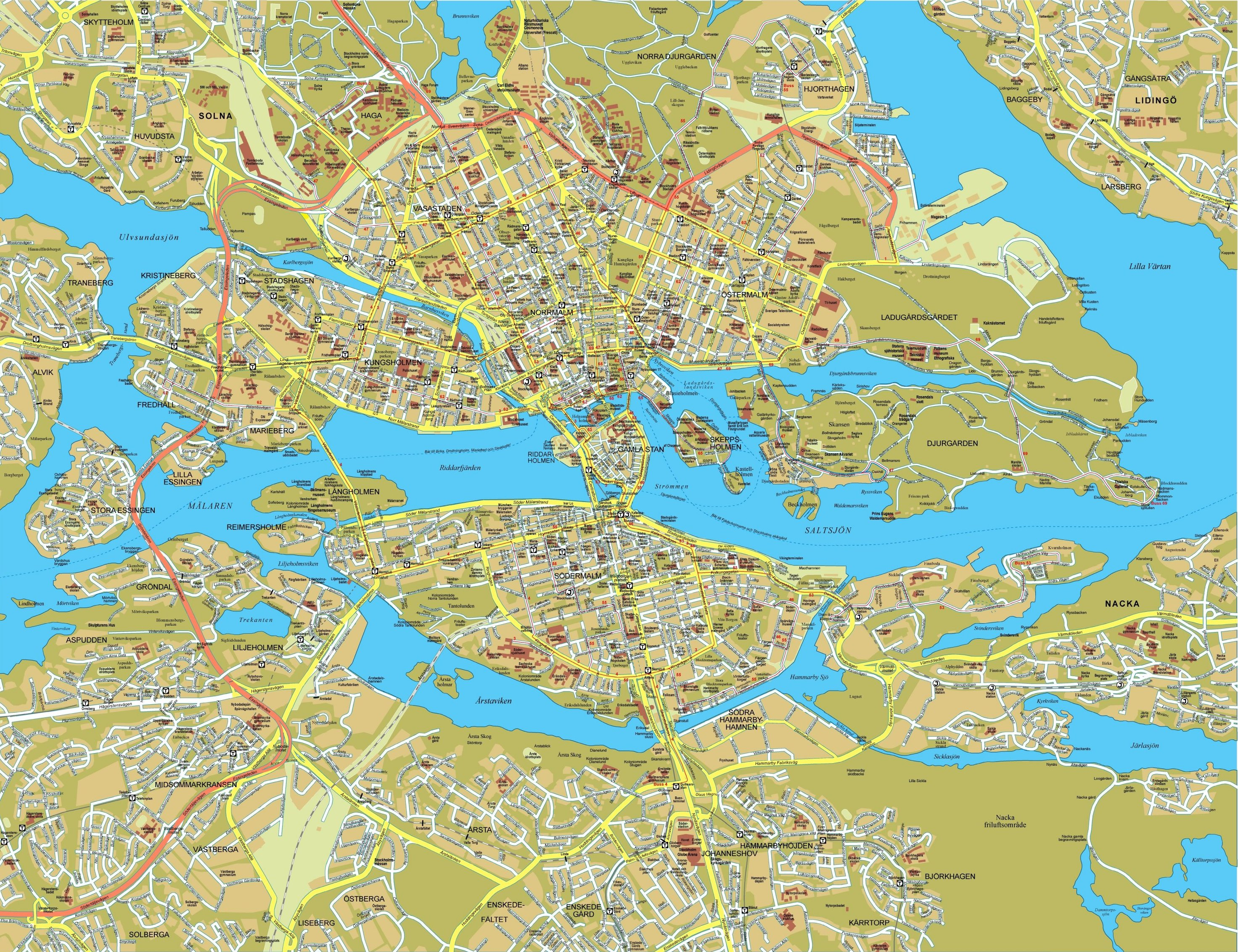 Stockholm Tourist Map holm Sweden mappery – Stockholm Tourist Map
