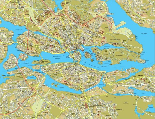 Stockholm tourist map stockholm sweden mappery fullsize stockholm tourist map sciox Images