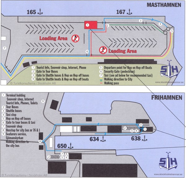 Stockholm cruise ship docks Map