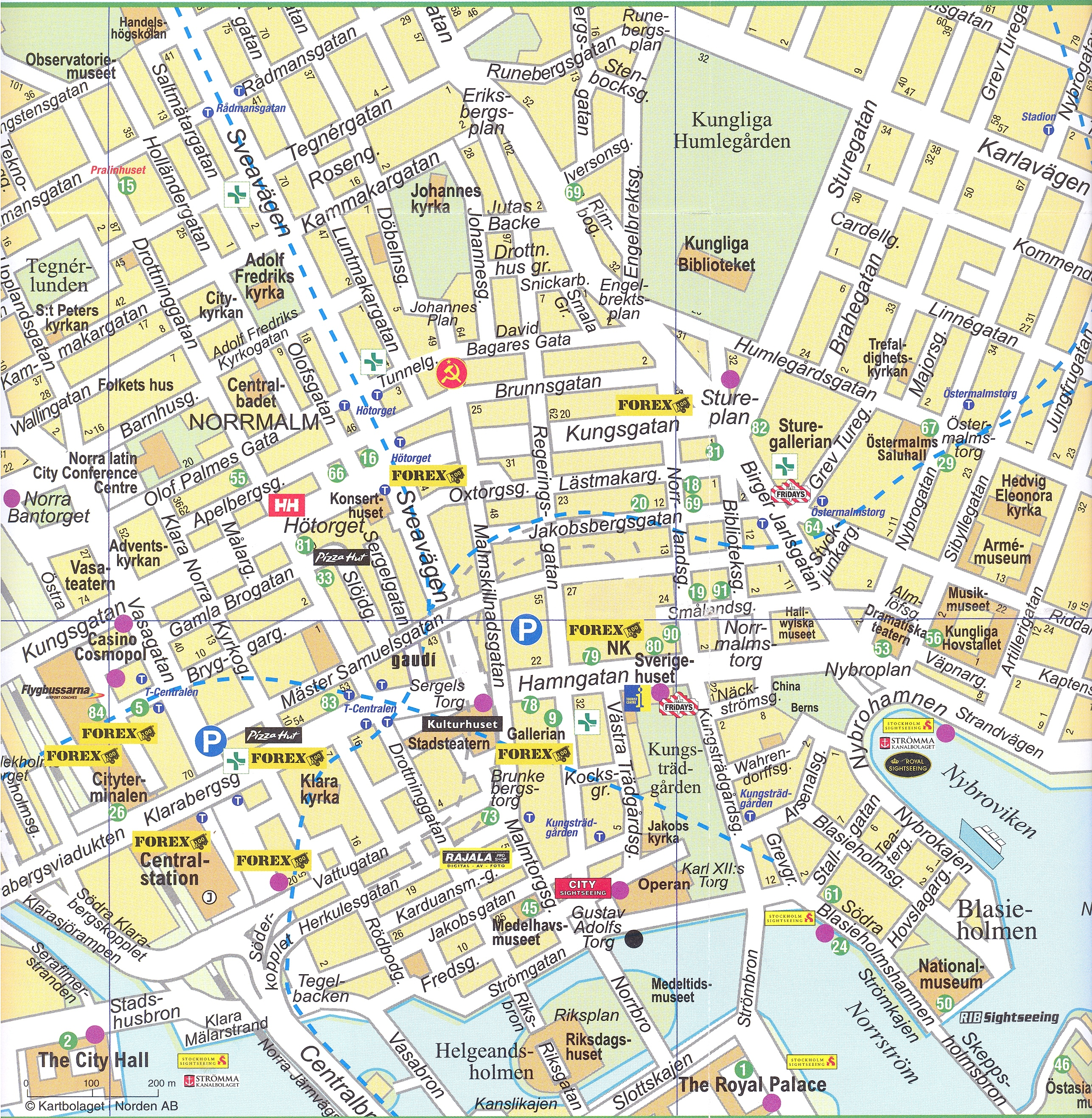 Stockholm downtown Map - stockholm • mappery