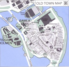 Stockholm old town Map