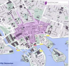 Stockholm shopping Map