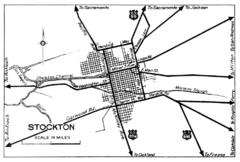 Stockton, California City Map