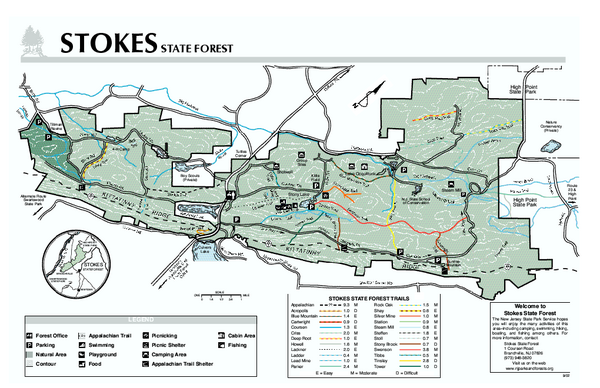 Stokes State Forest map