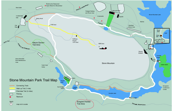 Stone Mountain Park Trail map