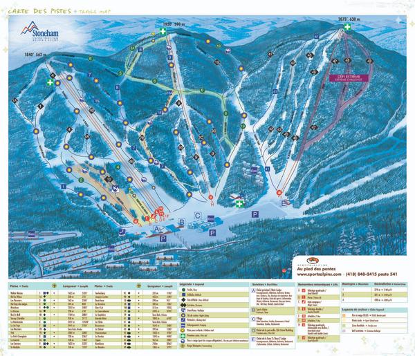 Stoneham Ski Resort Ski Trail Map • mappery on