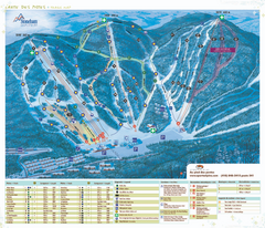 Stoneham Ski Resort Ski Trail Map