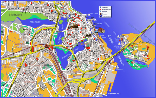 Stralsund Tourist Map Stralsund Germany mappery