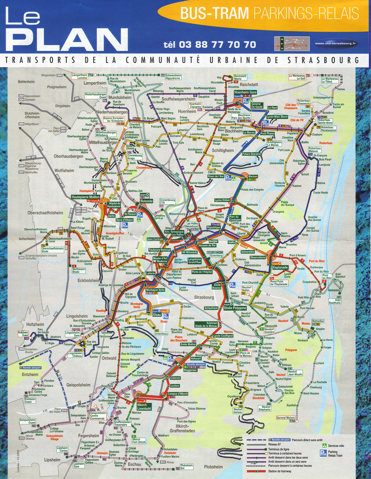 Strasbourg Bus and Tram Map Strasbourg France mappery