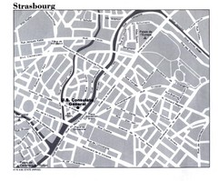 Strasbourg City Map