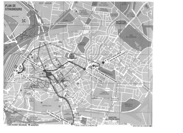 strasbourg map strasbourg france mappery. Black Bedroom Furniture Sets. Home Design Ideas