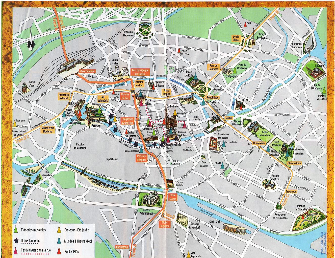 strassburg tourist map strassburg france mappery. Black Bedroom Furniture Sets. Home Design Ideas