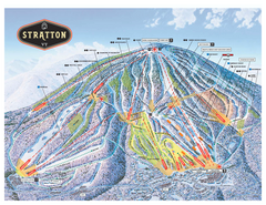Stratton Mountain ski area trail map 2006-07