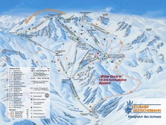 Stubaital Ski Trail Map