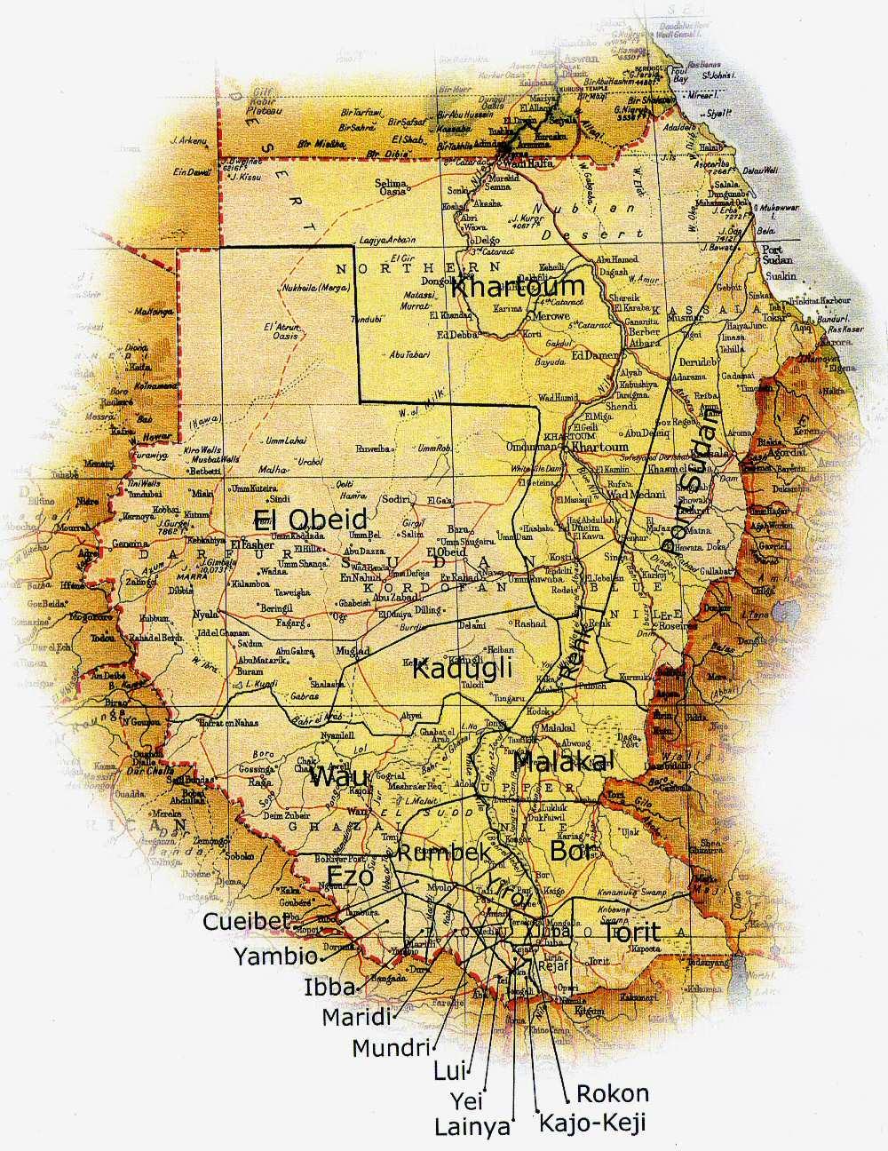 Sudan Province Map Sudan Mappery - Map of sudan