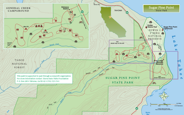 Sugar Pine Point State Park North Map