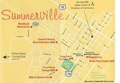 Summerville, South Carolina Tourist Map