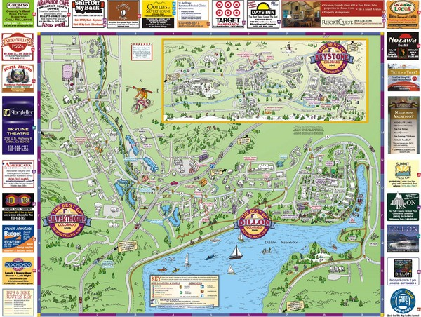 Summit County Resort Maps Map