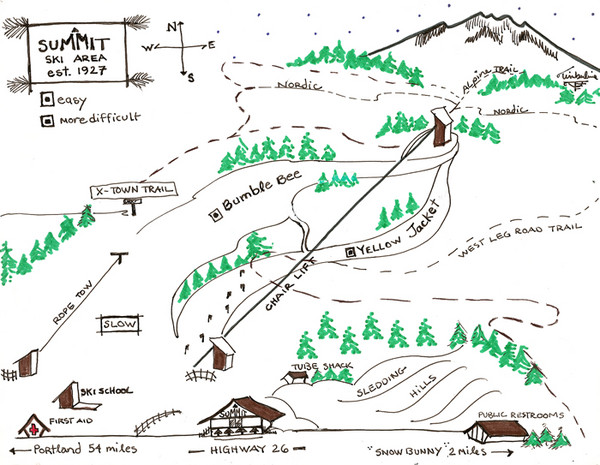 Summit Ski Area Ski Trail Map