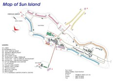 Sun Island Resort Map