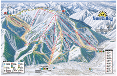 Sun Valley Ski Area Trail Map