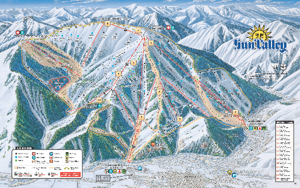 Sun Valley Ski Trail Map 2008