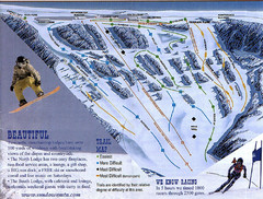 Sundown Mountain Ski Trail Map