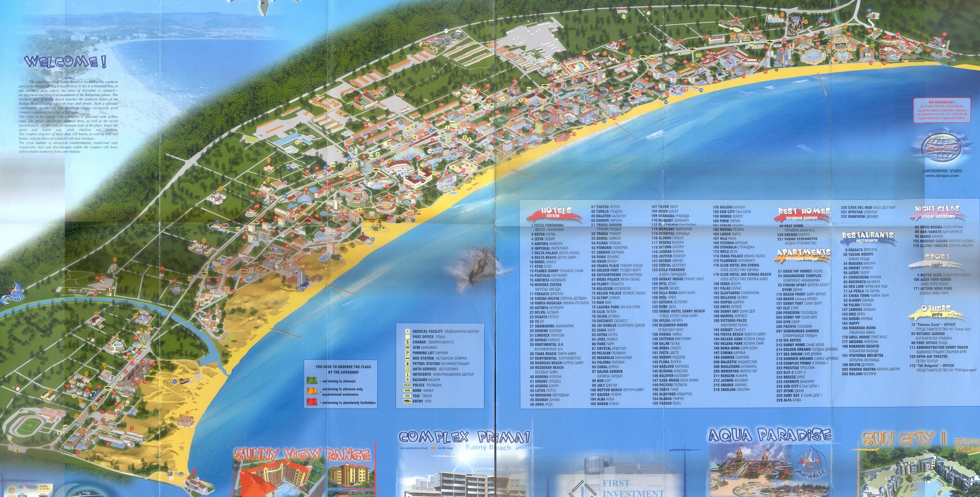 Sunny Beach Map Nessebar Bulgaria Mappery