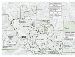 Sunol Regional Wilderness Trail Map - West