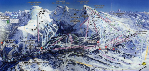 Sunshine Village Ski Trail Map