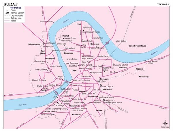 Surat City Map Surat India mappery