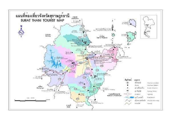 Surat Thani Map Surat Thani Thailand mappery