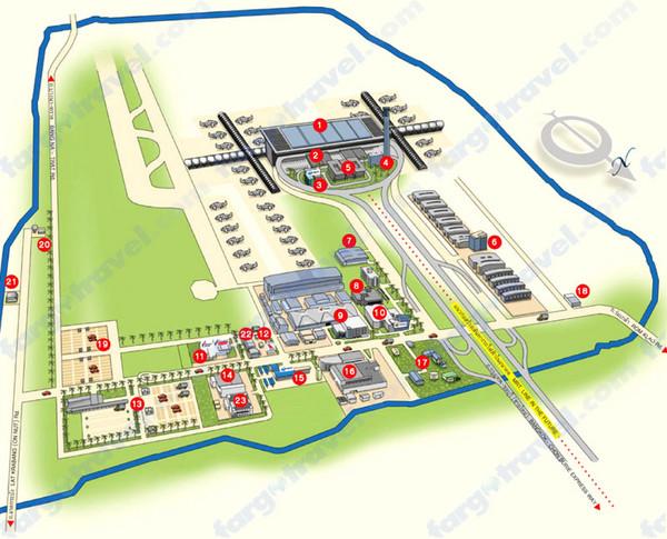 Rajiv Gandhi International Airport Map