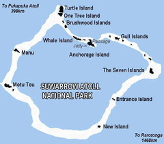 Suwarrow atoll National Park Map