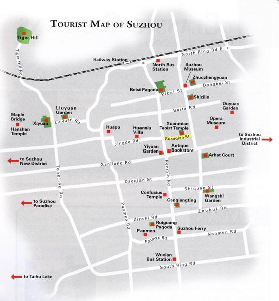 Suzhou City Tourist Map
